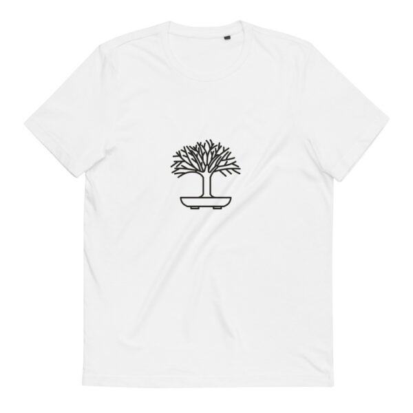 Hokidachi Bonsai T-Shirt Unisex Organic Cotton T-Shirt vit
